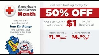 HostGator Red Cross Day Sale OFFER, 50% Off Plus $4 Domains!