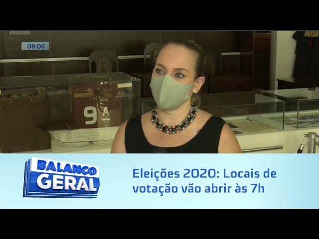 Eleições 2020: Locais de votação vão abrir às 7h da manhã