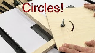 Youtube woodworking circle jig design for motorized router lift keyboard keysfo Images