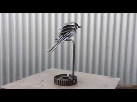 SCRAP METAL BIRD ART