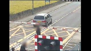 Amazing videos of cars and people having a near miss with trains at level crossings
