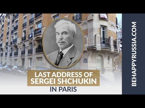 Last apartment of Sergei Shchukin in Paris!