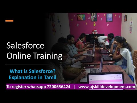 What Is Salesforce? Explanation In Tamil   Salesforce Training   AJ Skill Development
