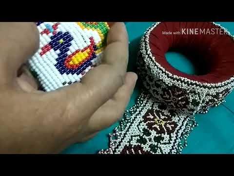 Handcrafts | Gujarat traditional handworks | traditional beadwork | unique pattern | motiwork |