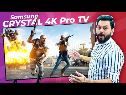 Samsung Crystal 4K Pro TV Unboxing & Quick Review ⚡ 4K Crystal Processor, 1 Billion Colors & More