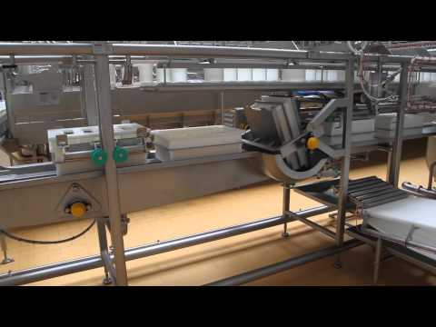 Semi-hard cheese production line