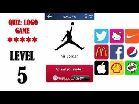 super popular a5425 9d69c Quiz  Logo Game Level 5 - All Answers - Walkthrough ( By Lemmings at work )  - YouTube