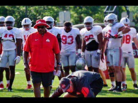Ohio State Defensive Line Coach Larry Johnson 8-24-16