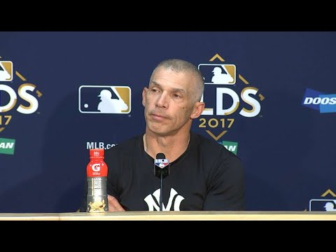 NYY@CLE Gm2: Girardi on not challenging hit by pitch