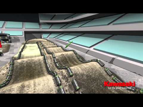 Supercross LIVE 2014 – Anaheim 1414 – Monster Energy Supercross Animated Track Map