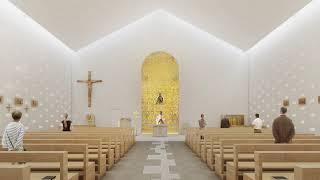 """Il video per concorso di progettazione del nuovo complesso parrocchiale """"maria ss. rosario"""" in terrasini (pa)."""