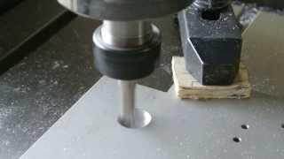 CNC กัด Pocket อลูมิเนียม