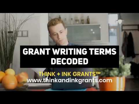 """Grant Writing Terms Decoded"""