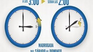 Cambio de hora en la madrugada del domingo