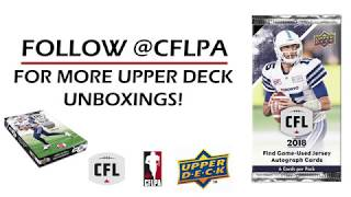 Unboxing 2018 Upper Deck CFL Trading Cards - Pack #4