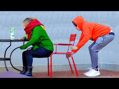 Chair Pulling Switch Prank