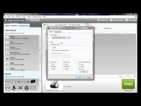 Printing Barcodes Using Your Dymo LabelWriter Printer