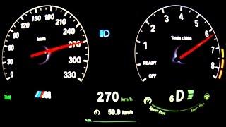 BMW M4 Acceleration 0-270 km/h Onboard Full Throttle Autobahn Autostrada F82 4er M3