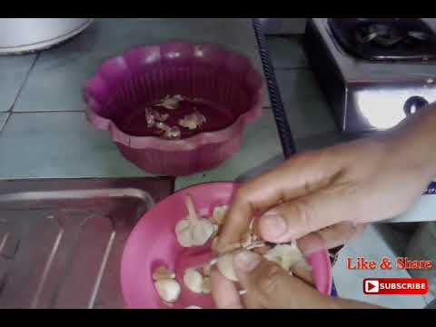 Bumbu fermentasi baceman bawang putih dan kemiri untuk nasi goreng thumbnail
