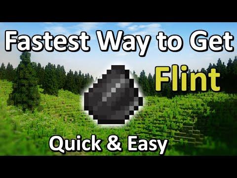 Fastest Way To Get Flint In Minecraft