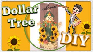 DOLLAR TREE DIY | Scarecrow Sign | September 2019