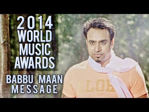 World Music Awards 2014 - Babbu Maan Message