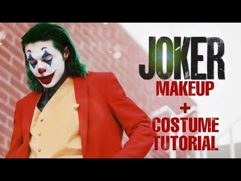 JOKER Screen-Accurate Makeup Transformation + Costume Tutorial
