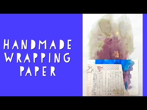 Art is for Everyone: Handmade Wrapping Paper for Etegami & Dandelion Lessons