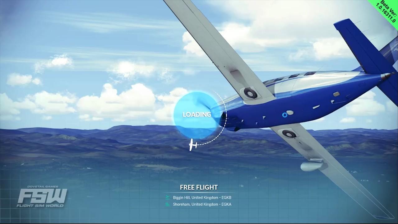 New Flight Sim for 2017 - FSW Beta - Flight Planning VFR/IFR