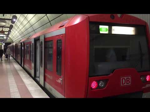 A Ride on Hamburg S-Bahn S1: Hamburg Flughafen to Hamburg Hauptbahnhof, Germany - 21 February, 2019