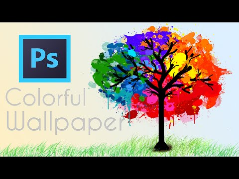 Photoshop Tutorial: Awesome Colorful Painted-like Tree Wallpaper In Photoshop