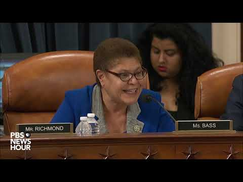 WATCH: Ukraine's president was 'being held hostage,' Rep. Bass says | Trump impeachment hearings