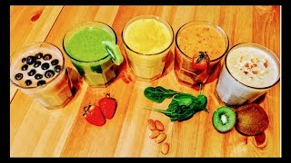 5 Simple Indian Smoothies in 5 Minutes l Healthy and Yummy ll ReallIfe Realhome
