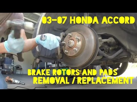 How to Replace Front Brakes Rotor & Pads on 2003-2007 Honda Accord