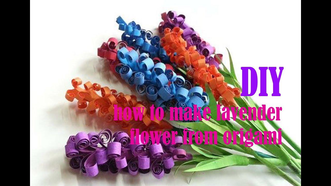 DIY - cara membuat bunga lavender cantik dari kertas