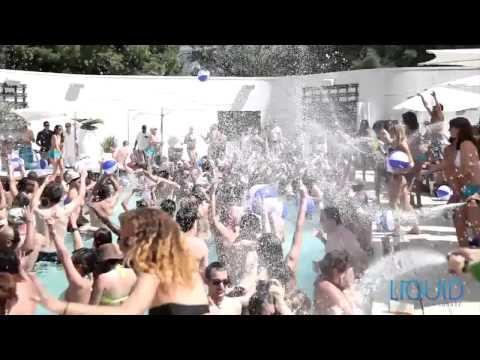 Liquid Pool, Lounge Aria Las Vegas Pool Party - Unravel Travel TV