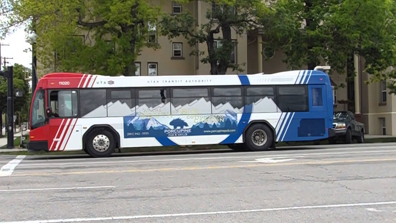 Uta Bus Gillig Brt Bus 11020 Running Route 2 In Salt Lake