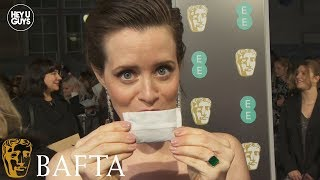 Hilarious Claire Foy at the BAFTAs - Netflix's The Crown