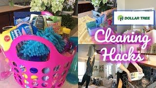DOLLAR TREE TOP 7 CLEANING HACKS + CLEANING GIFT BASKET