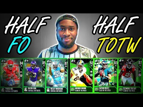 HALF TEAM OF THE WEEK + HALF FOOTBALL OUTSIDERS TEAM! MADDEN 18 ULTIMATE TEAM SQUAD BUILDER