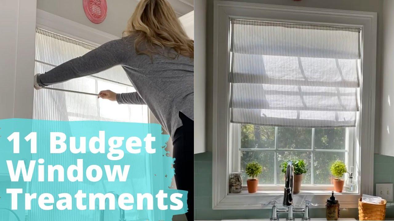 11 Budget Window Treatment Ideas Hometalk Youtube