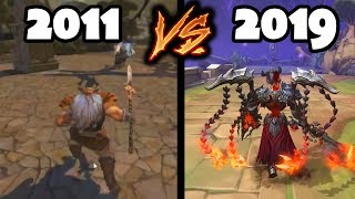 Evolution of SMITE - From 2011 to 2019