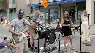 """Local band """"Off Label"""" plays at Sidewalk Saturday on Central St."""