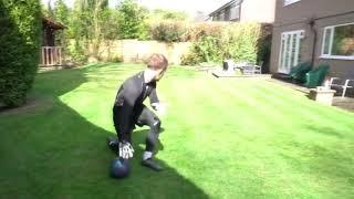 Работа ног и прием мяча в падении