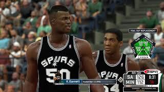 NBA 2K17 - Classic ESPN Scoreboard MOD- 95-96 Spurs at 03-04 Wolves - Garnett/Robinson Duel - 1080P