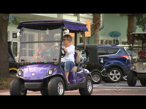 Hot rod golf carts becoming the new trend in retirement communities