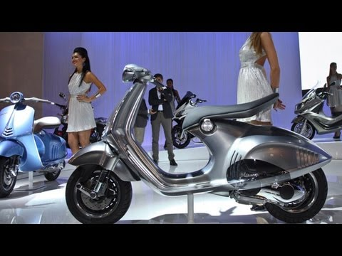 Piaggio und Vespa Scooter Neuheiten Eicma 2012