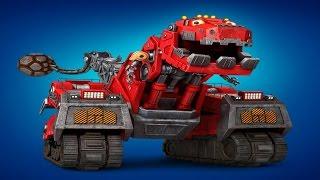 Динозавры машинки роботы. ДиноТракс. Забавная стройка.