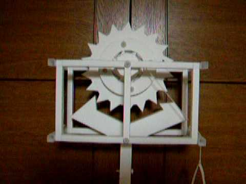 Papercraft Recoil Anchor Escapement Paper Model (Periodic 2 second)