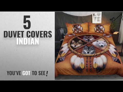 Top 10 Duvet Covers Indian [2018]: Sleepwish 4 Wolves Dreamcatcher Bedding Native American Golden